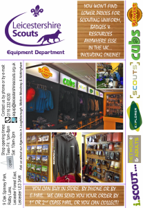 Scouting in Leicestershire Shop Poster